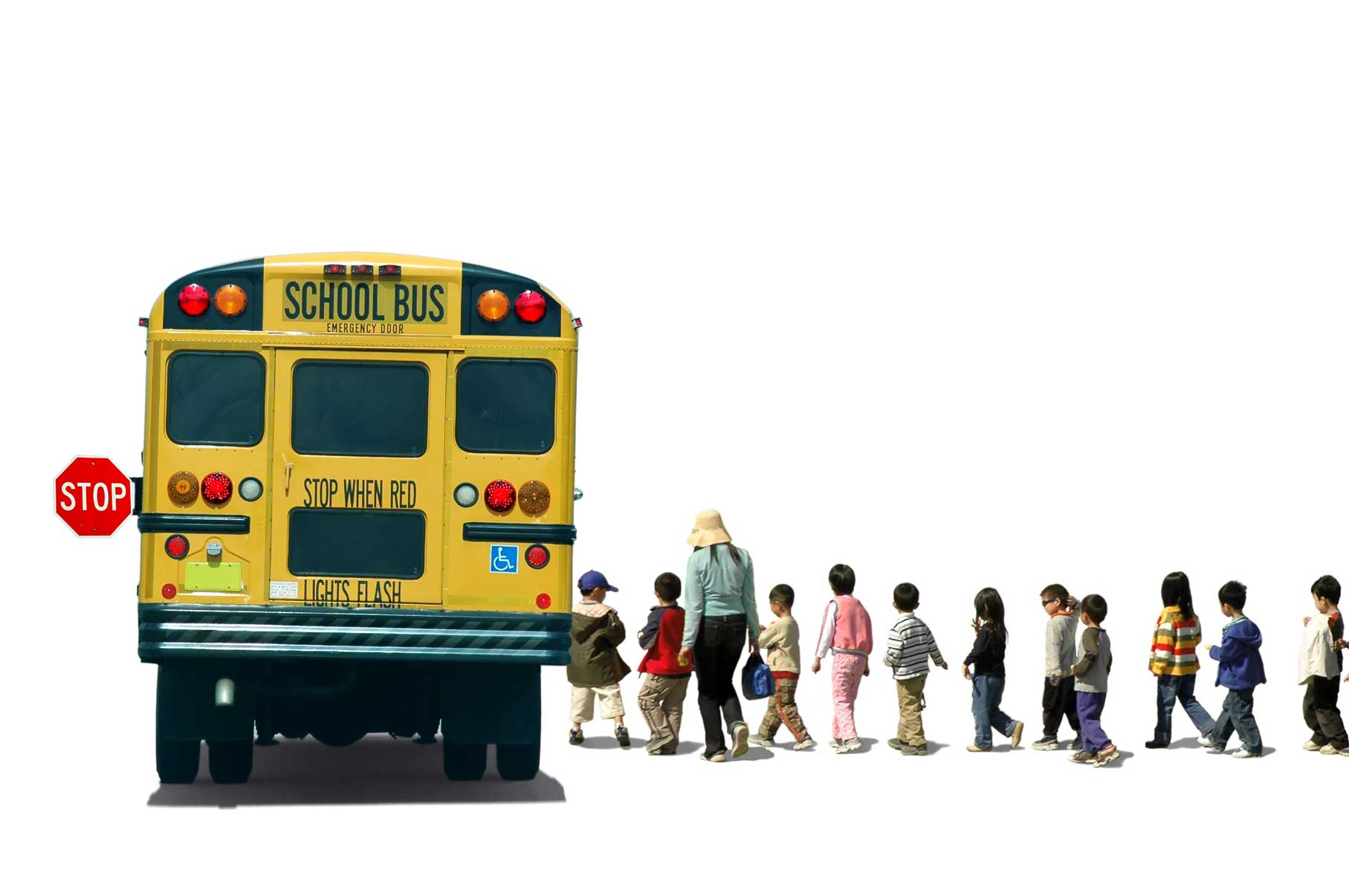 students-school-children-pupils-and-a-teacher-boarding-a-school-bus-Brunswick-Crossing-New-Homes.jpg