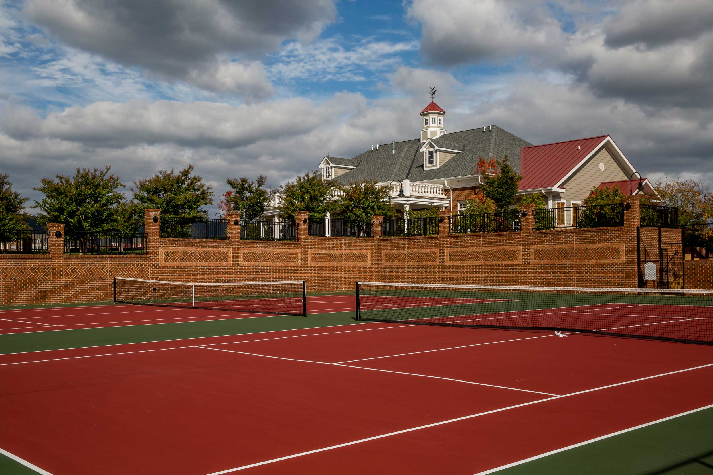 Brunswick Crossing Tennis Courts are part of the Frederick New Home Master Planned Community