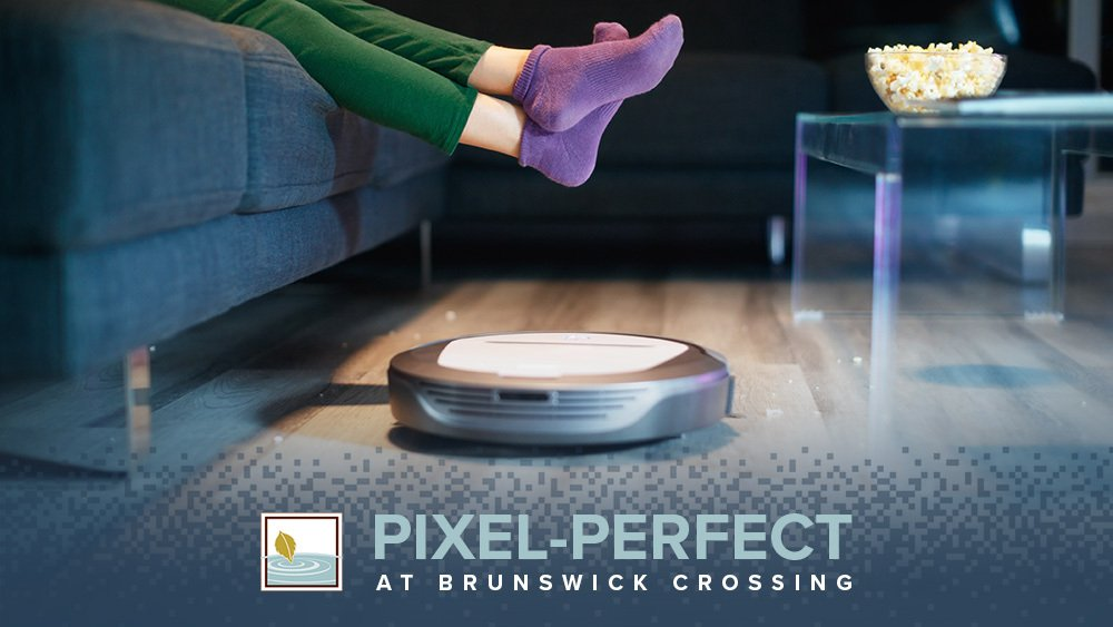 Robot Vacuum Cleaning Floor